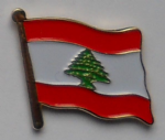 Lebanon Country Flag Enamel Pin Badge
